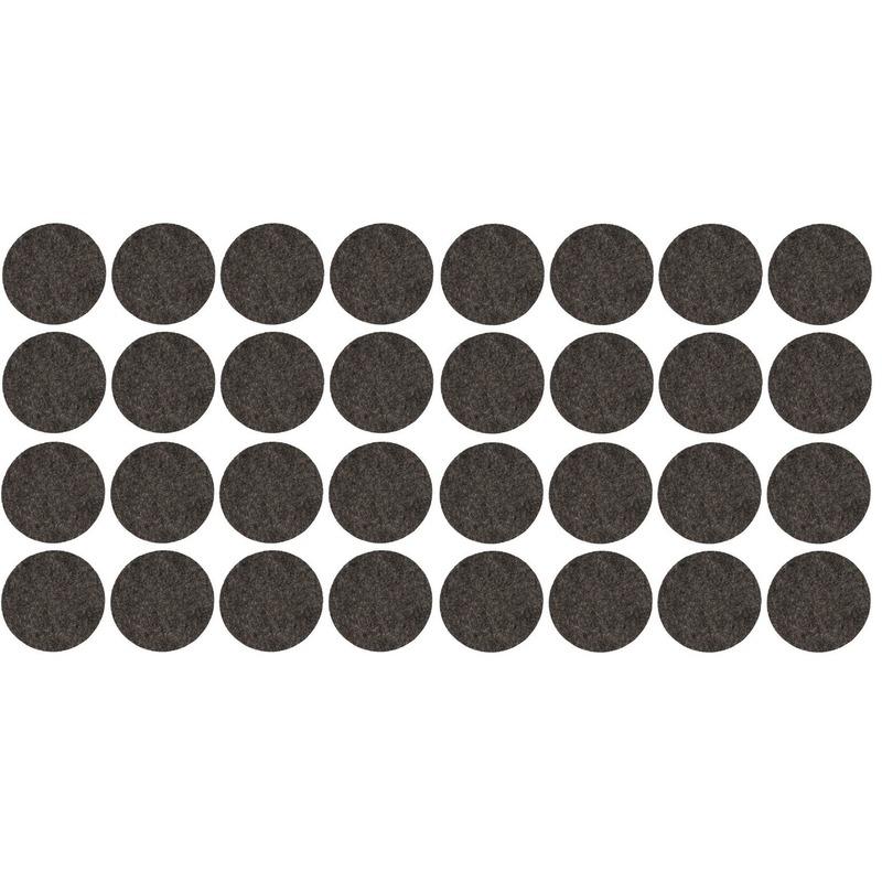 32x zwarte ronde vloerviltjesjes antislip noppen 2 6 cm