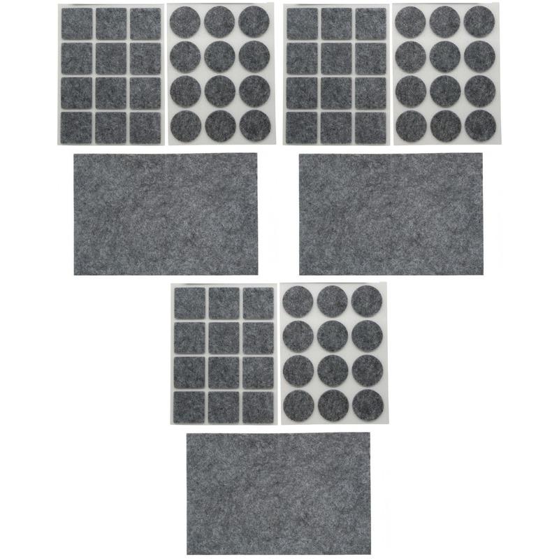 3x antikras rubber vloerviltjes sets 25 delig grijs