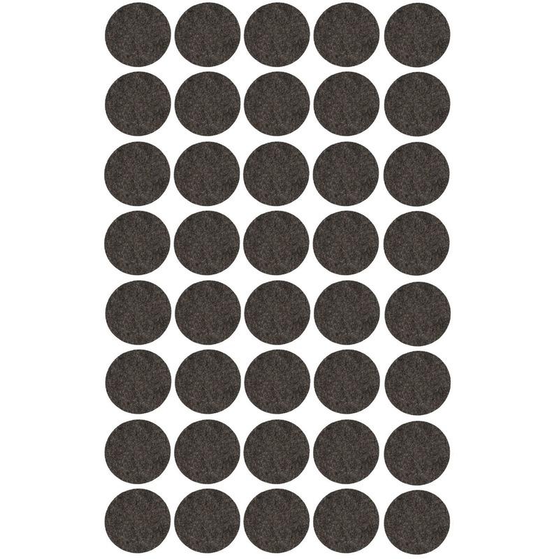 40x zwarte ronde vloerviltjesjes antislip noppen 2 6 cm