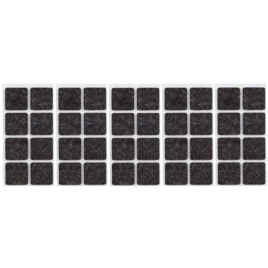40x zwarte vierkante vloerviltjesjes antislip noppen 2 5 cm