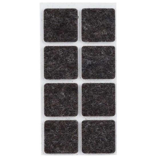 48x zwarte vierkante vloerviltjesjes antislip noppen 2 5 cm