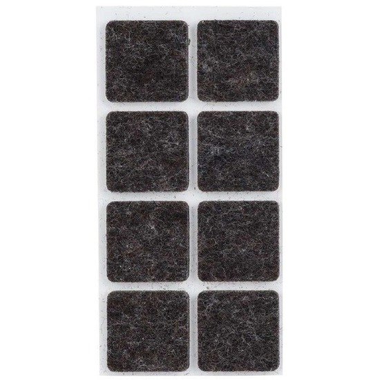 64x zwarte vierkante vloerviltjesjes antislip noppen 2 5 cm