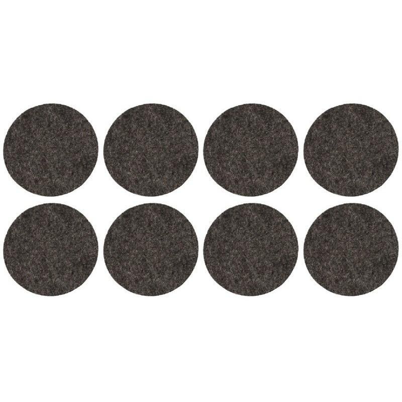 8x zwarte ronde vloerviltjesjes antislip noppen 2 6 cm