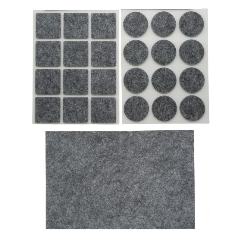 Antikras rubber vloerviltjes set van 50x stuks grijs