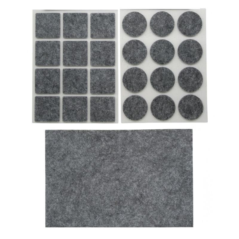 Antikras rubber vloerviltjes set van 75x stuks grijs